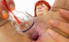 Good-looking redhead matured nurses solo
