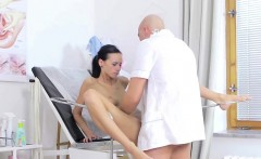 Gynecologist fucking young patient