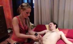 German Amateur Hooker get fucked by two older Men in Parlour