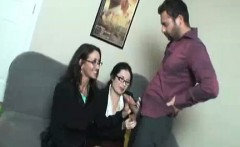 Jerking Off To Office Secretaries Goes Real When Caught