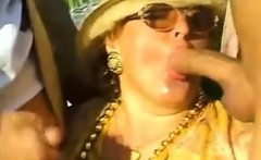 Granny Having Sex A Threesome Outdoors