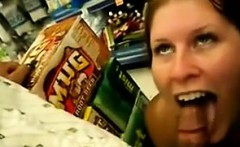 Chick Sucking Cock In Public At The Store