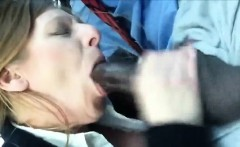 Quick BJ in the Car - Milf Sucks BBC