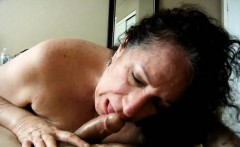 Horny Amateur Brunette Grandma Blowjob