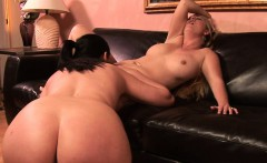 Naughty lesbian couple enjoys a good fuck with toys