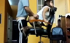 Maid Gets Creampied In A Barber Shop