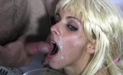Pornstar cum inside mouth