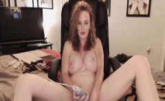 my gorgeous neighbor with huge tits toying her pussy on cam