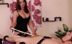 Redhead cbt masseuse wont let her client cum