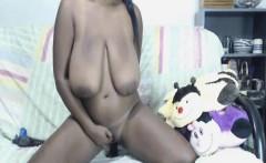 Huge Black Tits on Cam