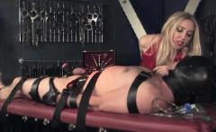 Femdom mistress using cock pump on subject
