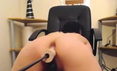 wild naked babe masturbates and squirts