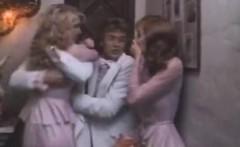 Shauna Grant, Ron Jeremy, Jamie Gillis in classic porn scene
