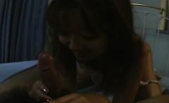 Caring Asian girlfriend pleasing her mans penis
