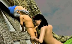 3d snow white fucked outdoors by one of the dwarves