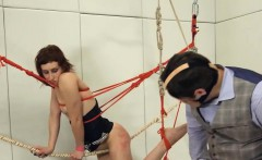 To much of rope and extreme BDSM submissive copulating