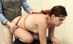 Extreme BDSM bottom action with rope and fucker