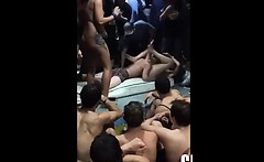 Crazy Students Have Sex On A Pool Party