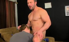 Cute blue eyed brown hair twink gets fucked When the muscula