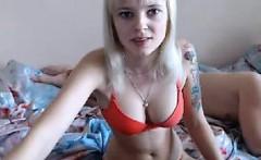 Tattooed Blonde And Her Boyfriend Fuck