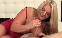 Cum-hungry Milf's Got A Throbbing Dick In Her Hands