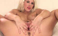 Czech pornstar Lucy masturbating with toy
