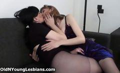 Two mature lesbians exploring