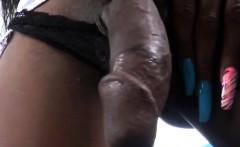 Hung Black Tgirl Nyla Melrose Masturbates