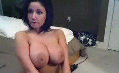 Brunette With Great Breasts Strips