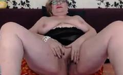Large Granny Teasing Her Body