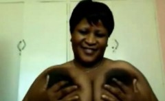 Ebony BBW With Large Breasts