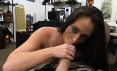 Ex dominatrix sells her stuff and fucked by nasty pawn dude