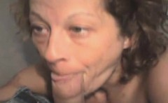 Aged Brunette Street Whore Sucking On Dick POV