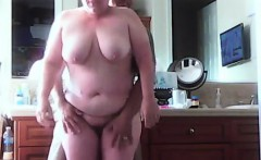 Hidden camera caught my chubby busty Mom