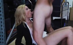 Blonde massive cock Hot Milf Banged At The PawnSHop