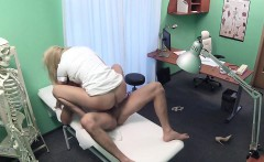 Sexy blonde nurse fucks patient