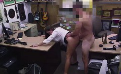 Big ass CFNM MILF getting fucked by naked dude for pawn cash