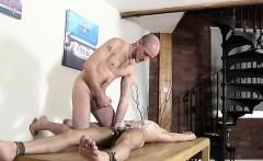 Young gay bondage by army video Dom man Kieron Knight has a