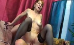 Horny redhead granny is ready to fuck