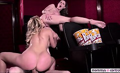 Lovely butted teen Molly in threesome