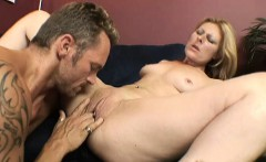 MILF Isadora trades oral and spreads wide to get her hole pumped