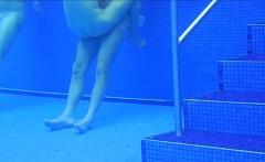 Naughty hidden underwater cam captures lovely naked bombshe