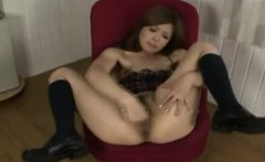 Japanese Teen Playing with Herself