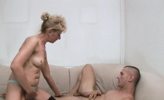 Lusty mamma exposes her juicy soaking twat for hardcore fuck
