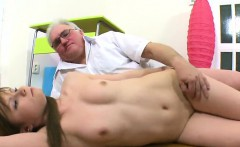 Fervid schoolgirl gets teased and nailed by her elderly ment