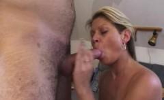 Sexy Blonde Mama Cum Sprinkled Breasts Fucke