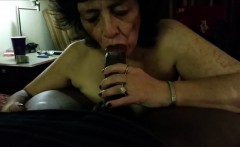Kinky Grandma Eating A Hard Black Meatstick