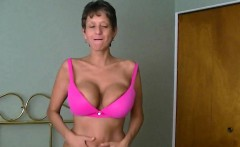 grandma with a gorgeous pair of fake boobs