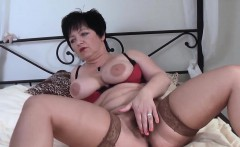 Busty german milf sucks