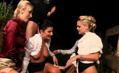 surprised doll in lingerie is geeting peed on and plowed